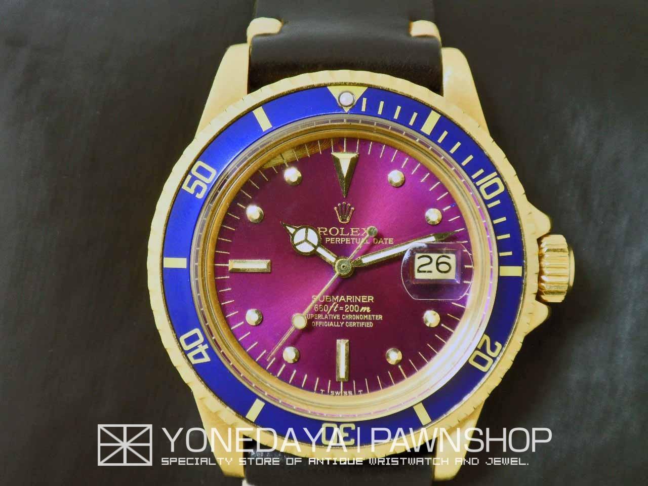 big sale 43129 90f7e K18YG 1stサブマリーナー Ref.1680/青サブ(パープル)&フジツボ ...