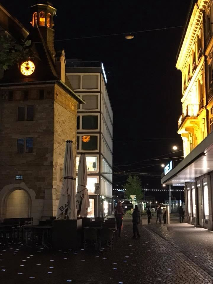 ジュネーブの夜景