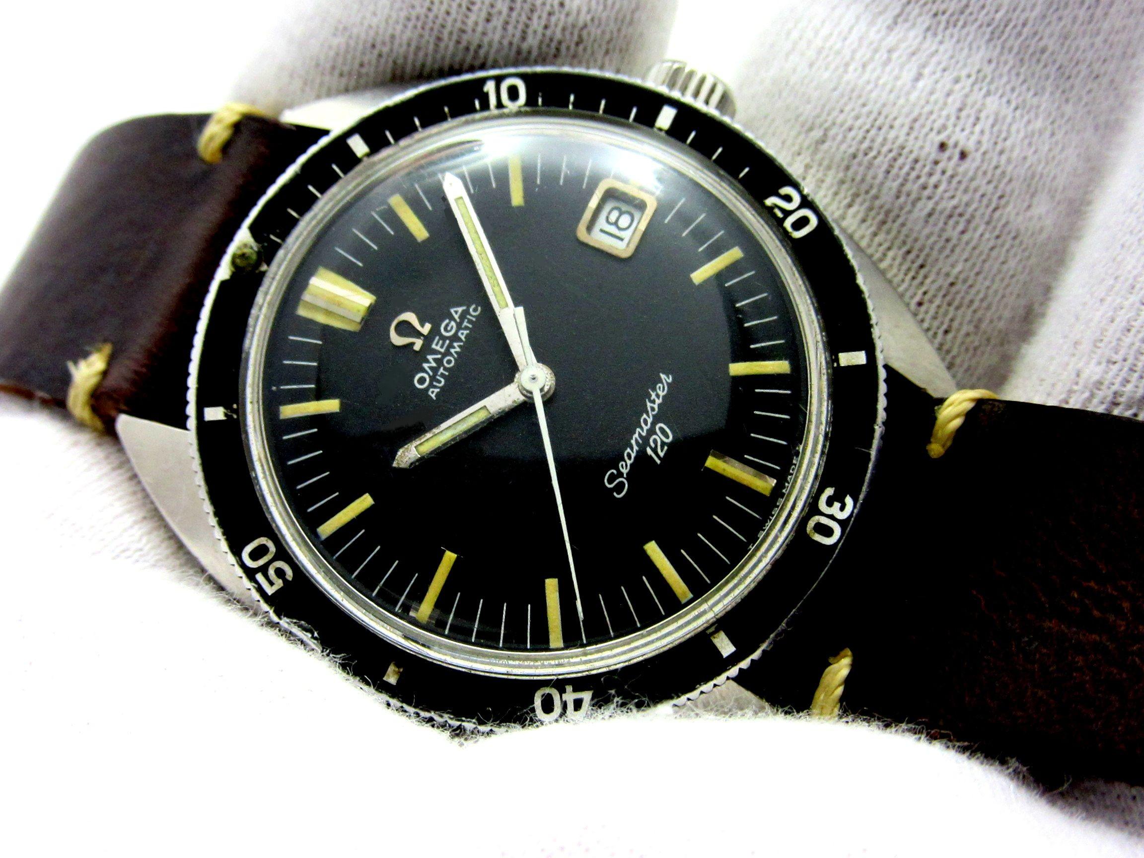 """new styles a6c22 15382 オメガ 1960s """"シーマスター 120"""" オリジナルブラックダイヤル ..."""